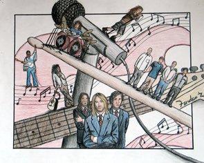 Cartoon musicians poster