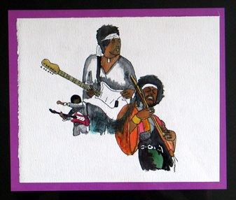 Hendrix watercolor