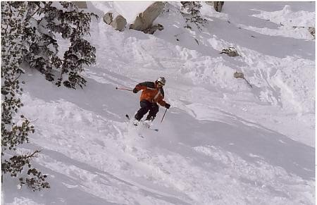 some powder at mammoth