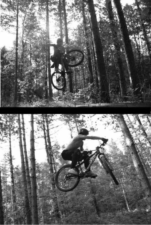 mountain bike dirt jumping