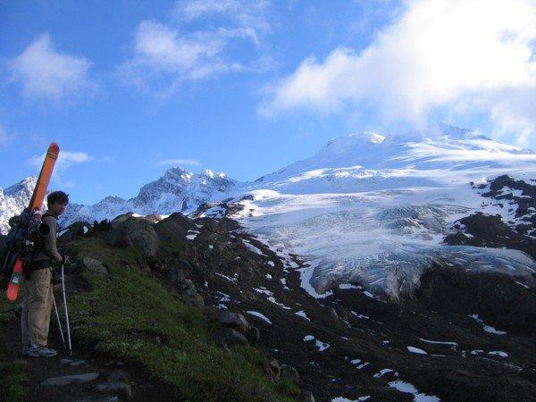 Eric and Easton Glacier