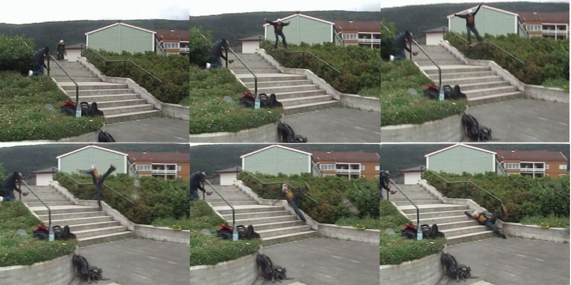 siiiiick bail on skateboard.