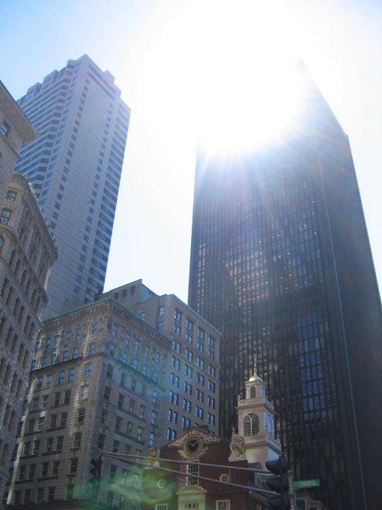 Cool shot of buildings in Boston