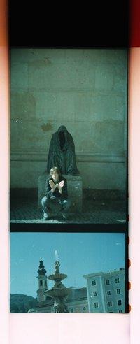 me in Austria. with creepy statue