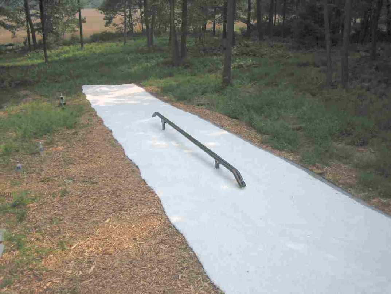 Backyard Park: Rail is set at lowest level setting.