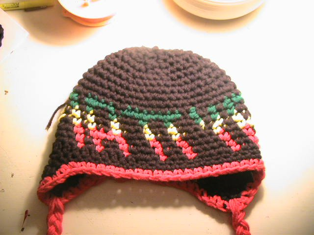 "rasta colored ""MattyB"" hat"