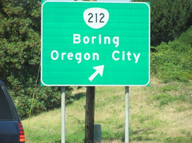 Hahha on the way back from oregon, sign