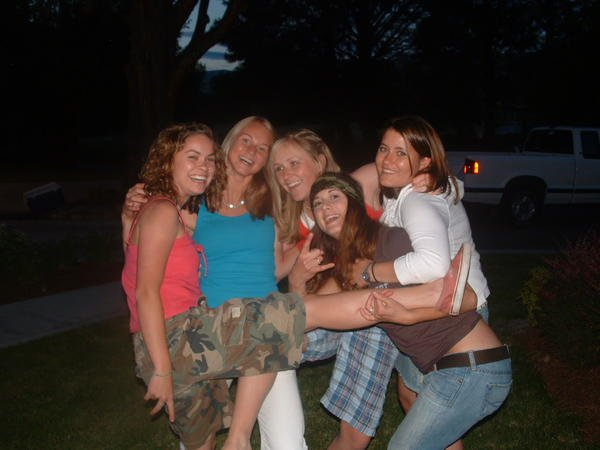 im on the far right in white, grad. party!