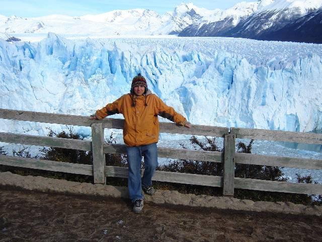 me and a massive glacier
