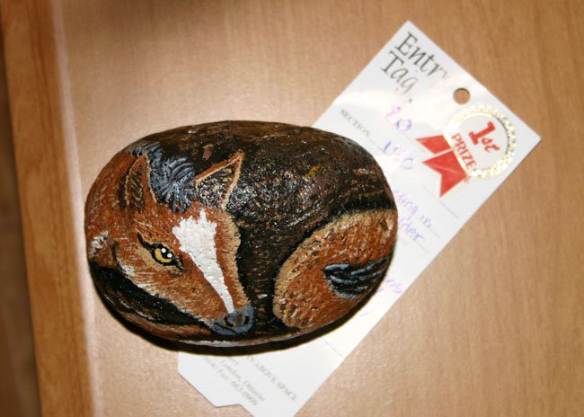 When I'm bored, i paint rocks. And win money.