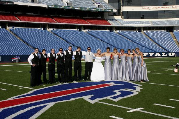 Buffalo Bills Stadium Wedding pics