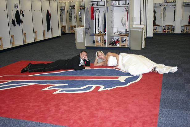 Buffalo Bills Stadium Wedding pics #3 - locker room