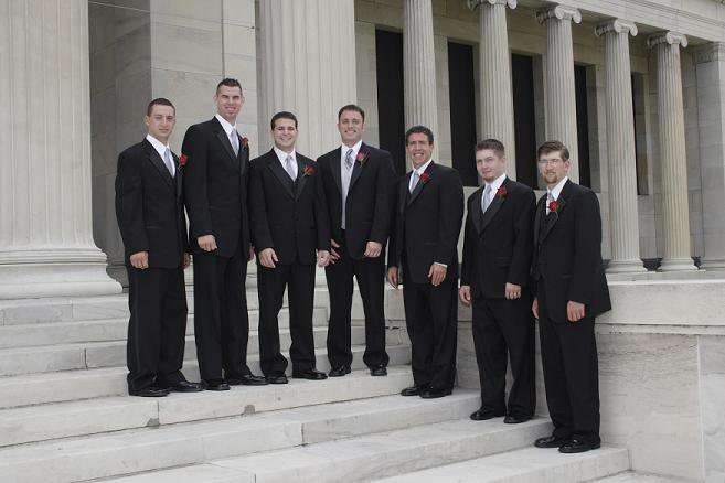 Other wedding pics - me and groomsmen