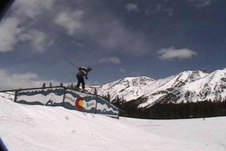Sweet Trap rail at A-Basin end of season 05'