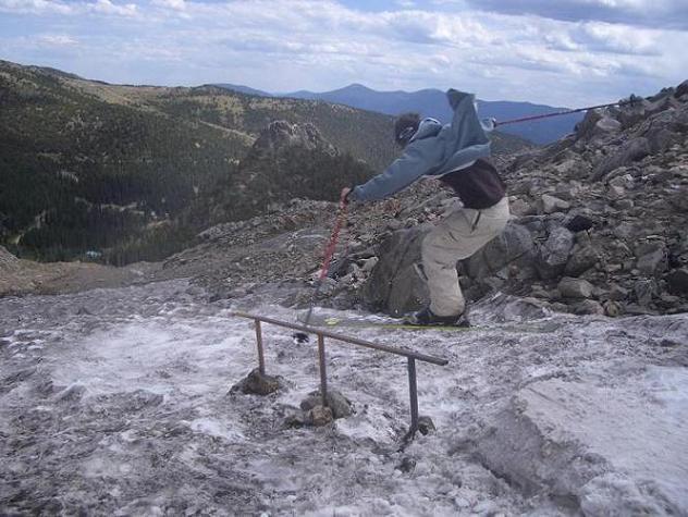 September 3rd!!! rail on st. mary's glacier