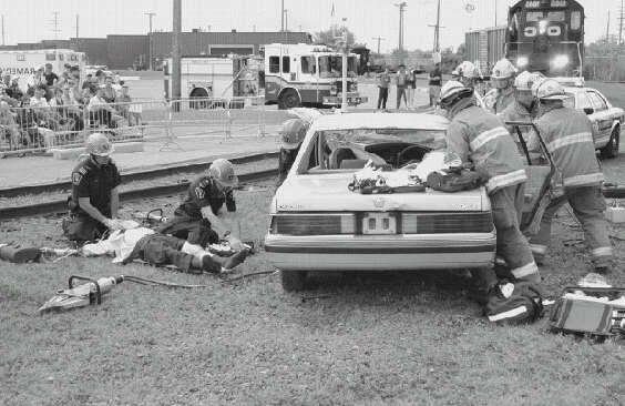 Train wreck simulation...Im second from left