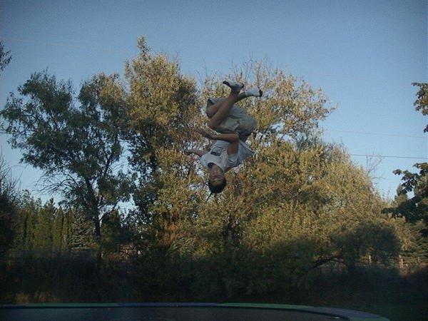 misty 7 on a trampoline