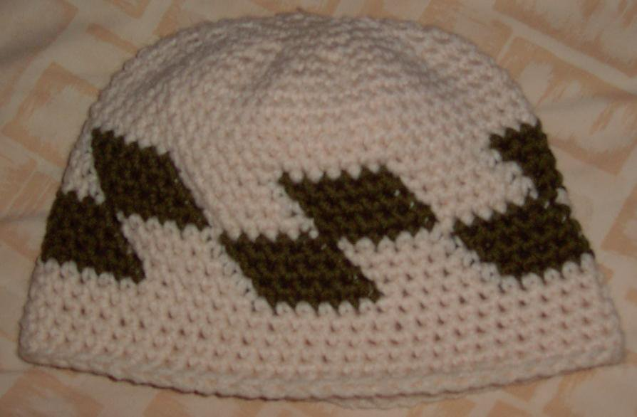 First Try at checkers on a hat