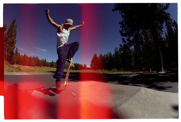 Mr. Braden P. F. showing how to ollie back in the day