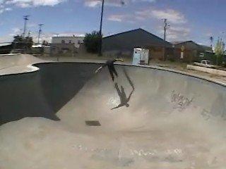 Pool skate fall
