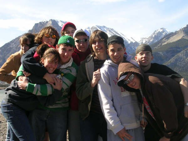 the group shot after a big day of skiing