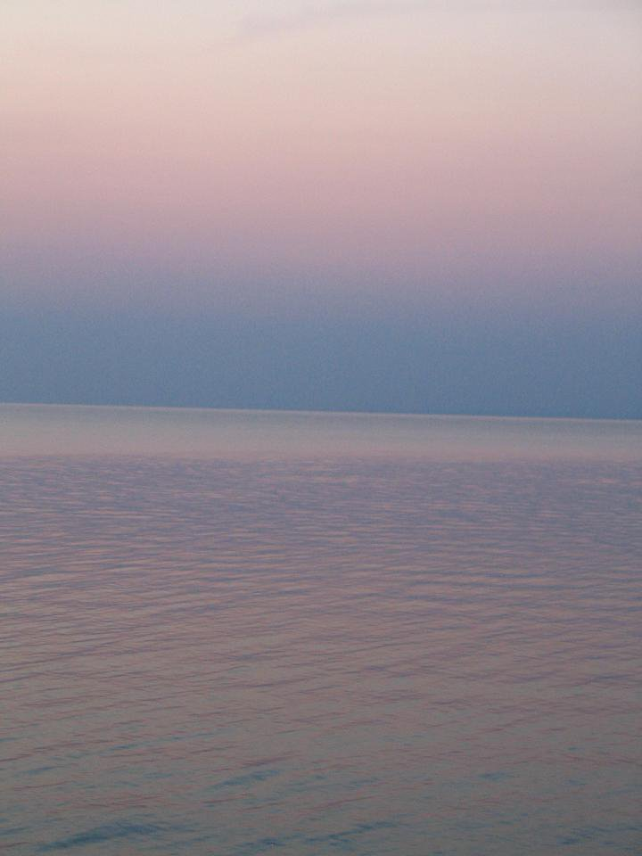 calm, pastel tones