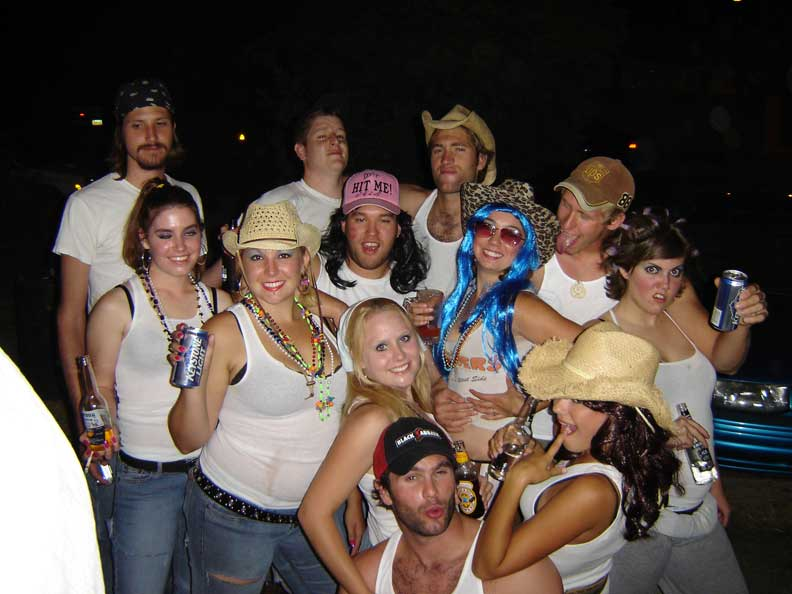 Whitetrash Party for Erika's B-Day