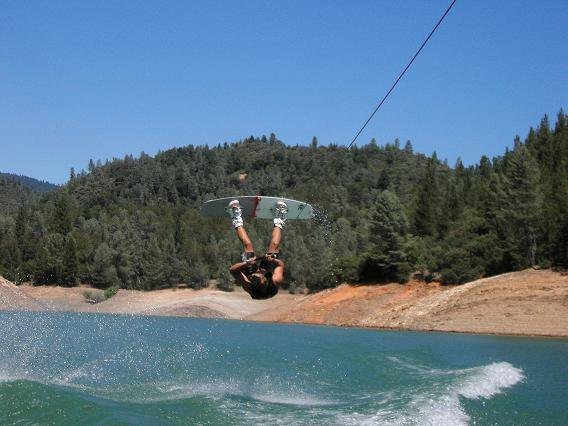 Backroll on wakeboard