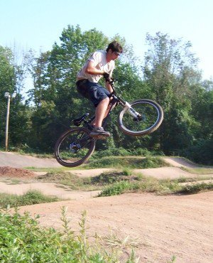 bmx tracks are lots of fun on mountain bikes