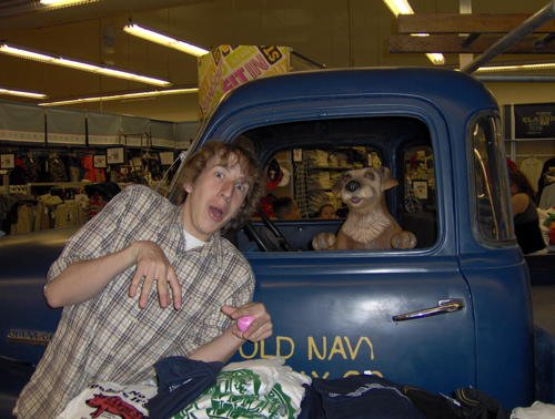me just chilling at old navy, bitches