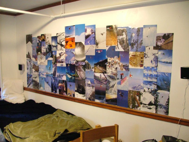 Dorm Wall Collage