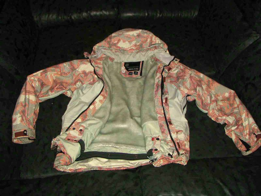 red digi camo coat - for sale