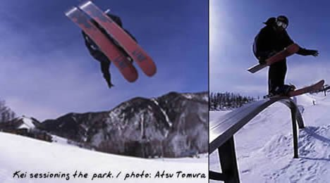 u skiers wish u could slide a rail with this much style