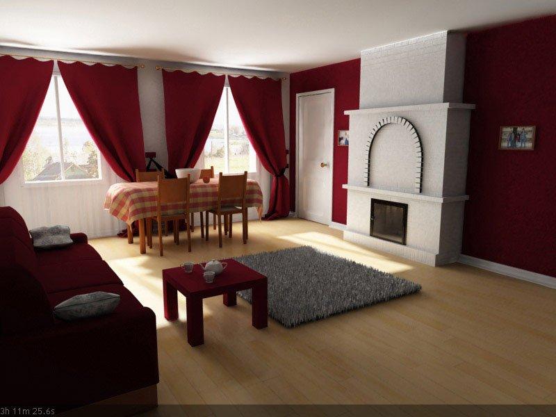 3d interior vizualisation. room
