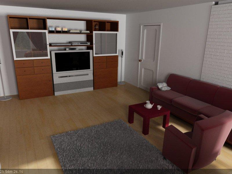 3d interior vizualisation. same room, different view