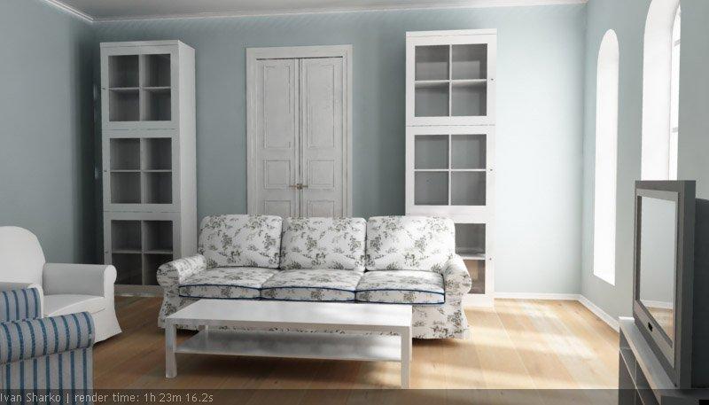3d interior vizualisation. room frmo ikea magazine