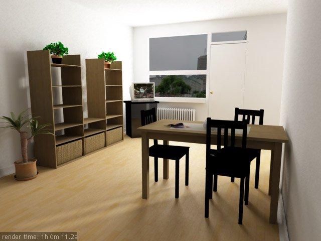 3d interior vizualisation. just a room