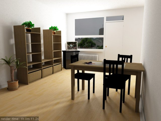 3d interior vizualisation. just a room