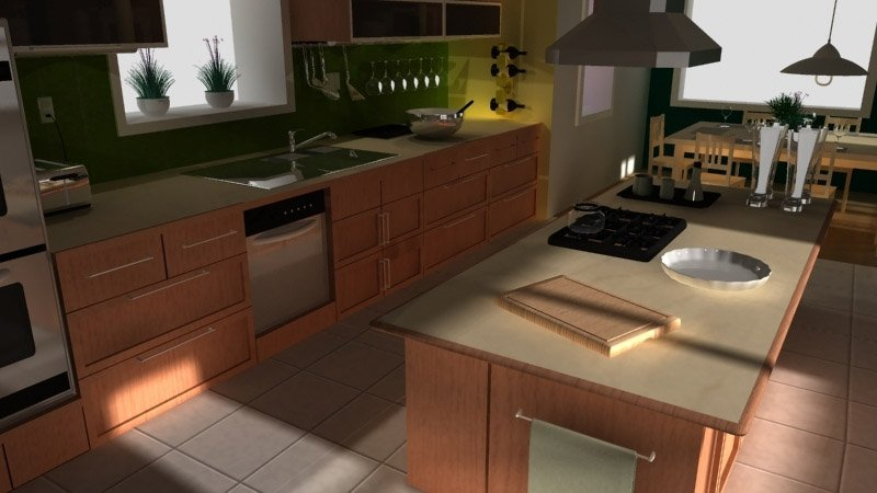 3d interior visualization. kitchen from ikea magazine
