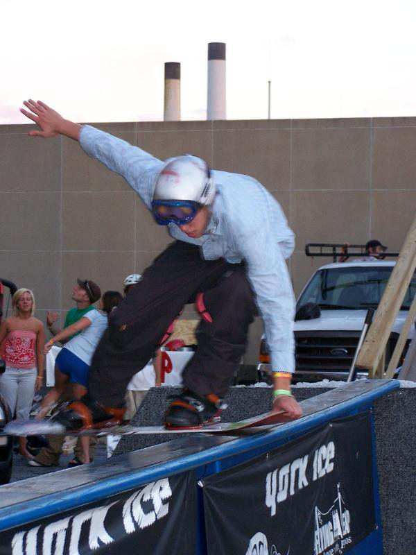 snowboarding! picture so dont get mad from rail jam