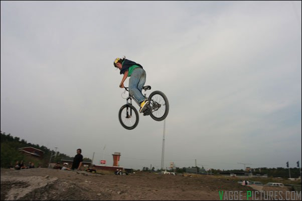 Throing a 360 in the dirt.