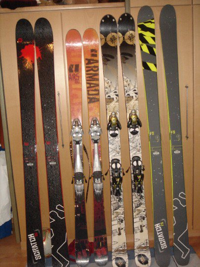 my bro and my ski collection