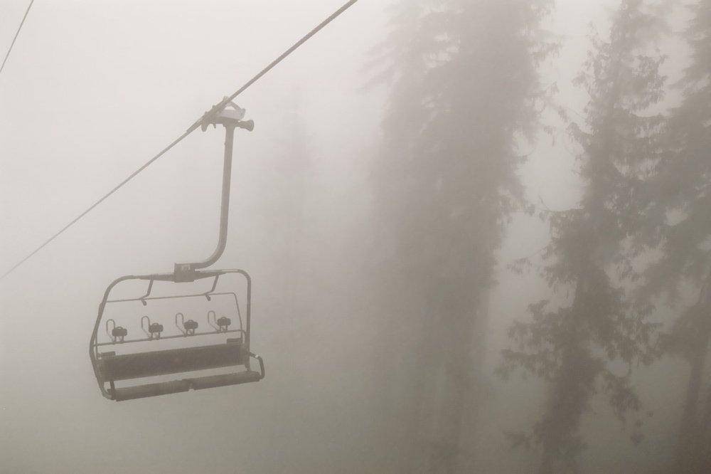 Chairlift in Fog