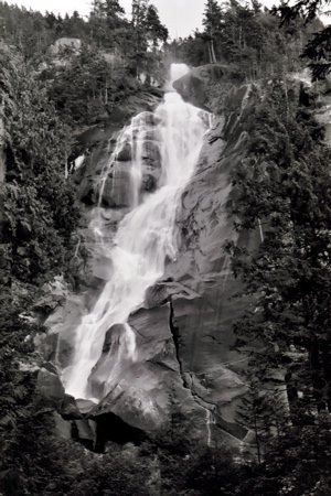 Waterfall on the way to Whistler
