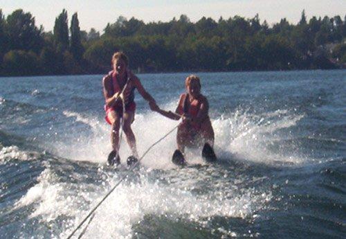 tandem water skii