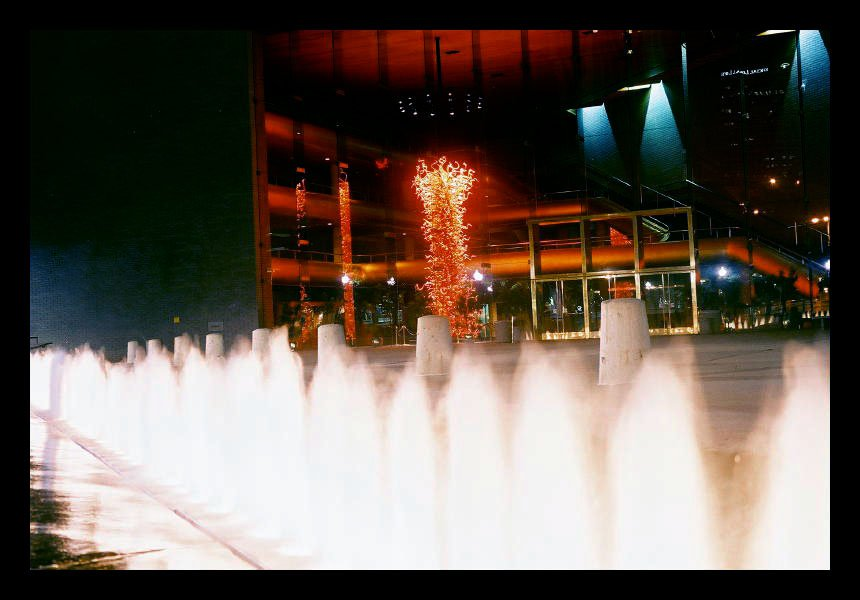 Building and Fountain