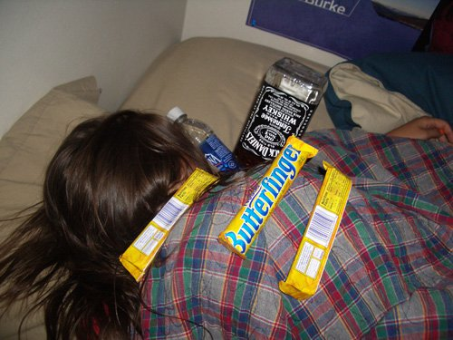 mmm butterfingers and JD