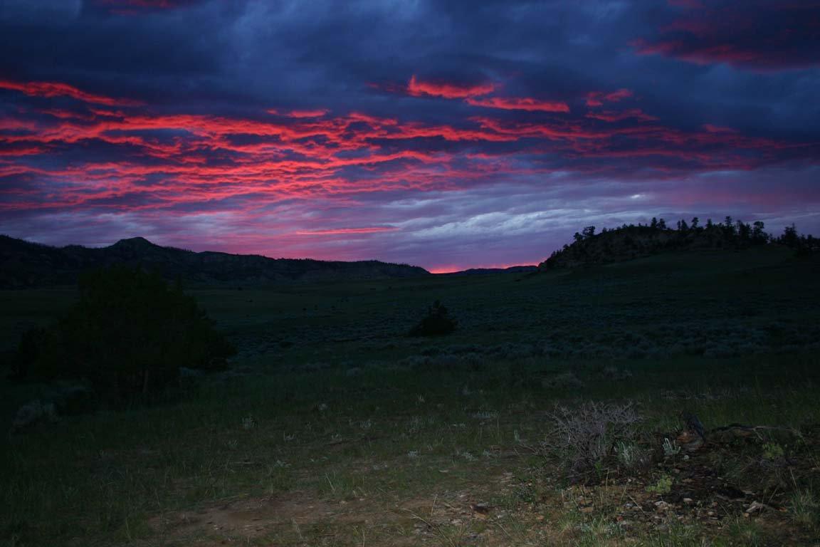 Sunset in Eastern Montana Summer of 2005