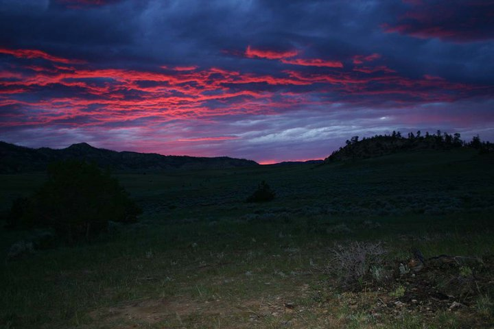 Sunset in Eastern Montana Summer of 2005