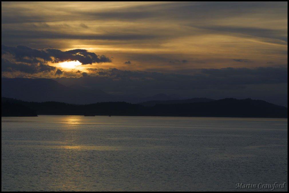 Sunset Off a ferry